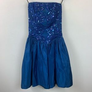 Vtg 80s Gunne Sax Jessica McClintock Prom Dress